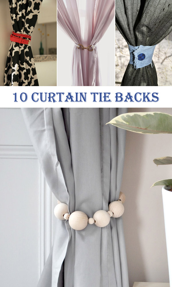 10 Super DIY Curtain Tie Backs