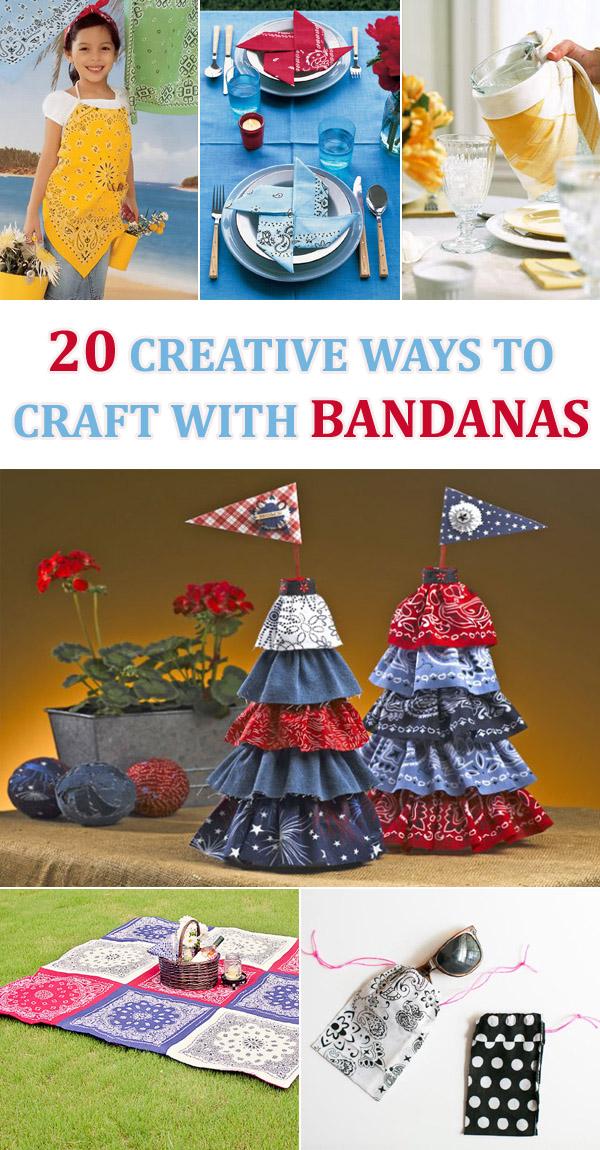 20 DIY Creative Ways To Craft With Bandanas