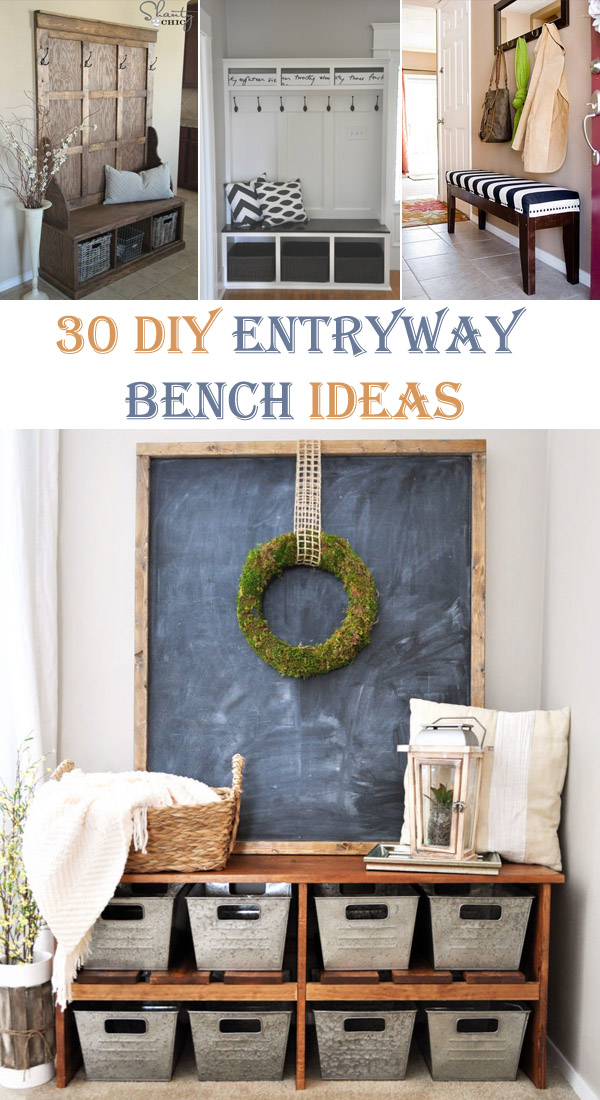30 Interesting DIY Entryway Bench Ideas
