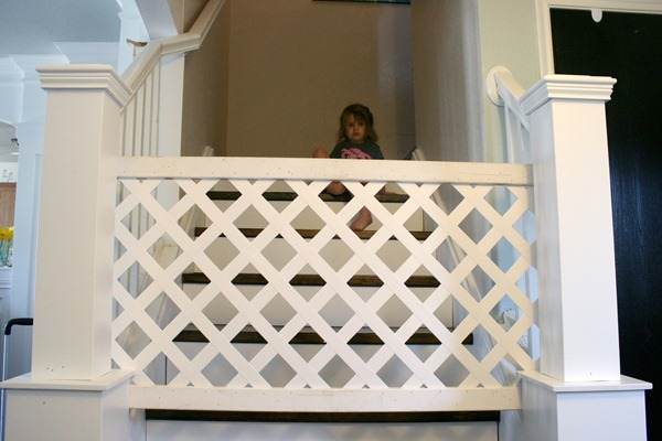 Child's Gate from a Sheet of Vinyl Trellis