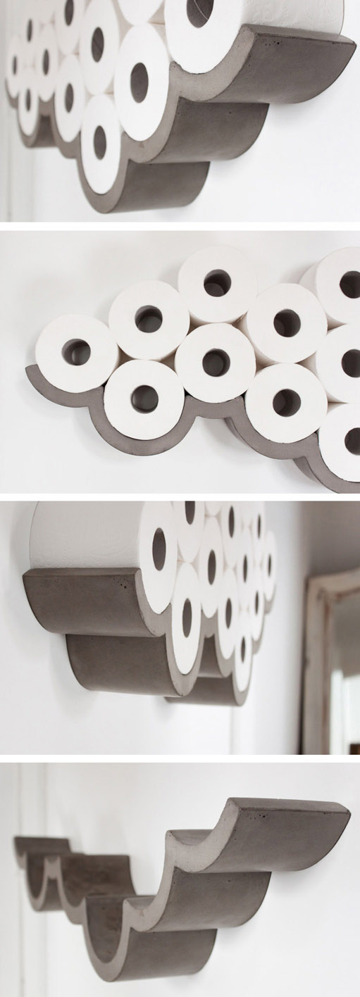 Cloud Concrete Toilet Roll Holder