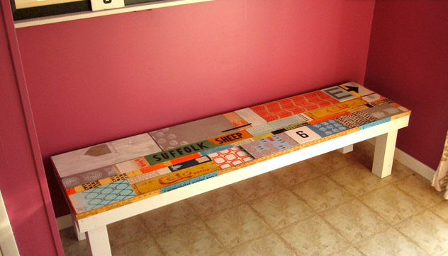 DIY Artful Scrap-Wood Bench
