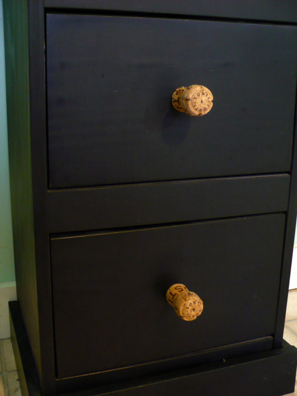 DIY Champagne Cork Drawer Knobs