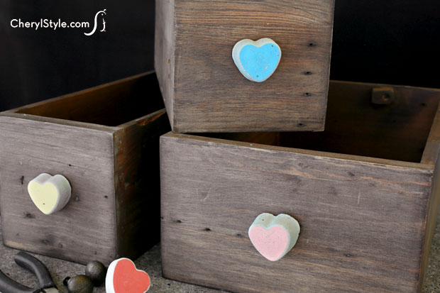 DIY Concrete Drawer Pulls