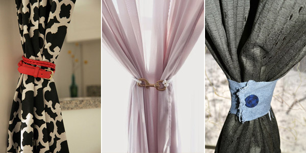 DIY Curtain Tie Backs