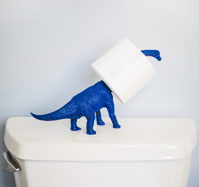 DIY Dinosaur Toilet Paper Holder