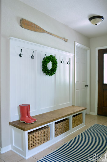 DIY Entryway Mudroom
