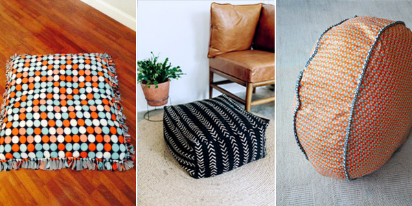 DIY Floor Cushions and Pillows