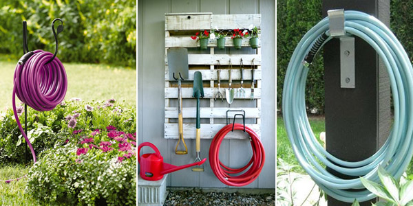 Garden Hose Storage Ideas garden organizing tips a galvanized bucket does double duty by holding the hose and storing Diy Garden Hose Storage Ideas