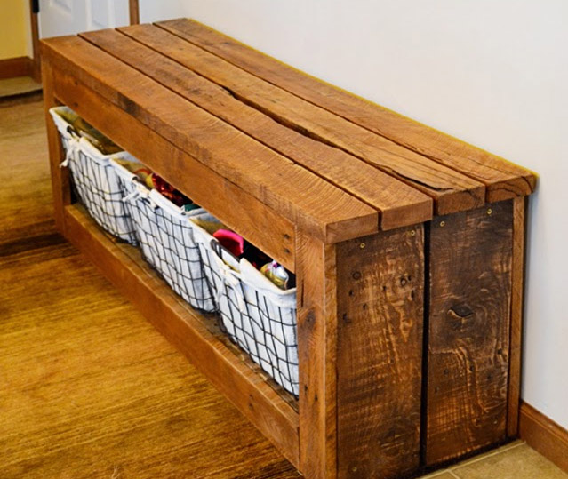 DIY Made From Scrap Storage Bench