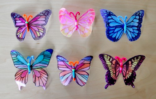 DIY Milk Jug Butterflies
