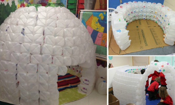 DIY Milk Jug Igloo