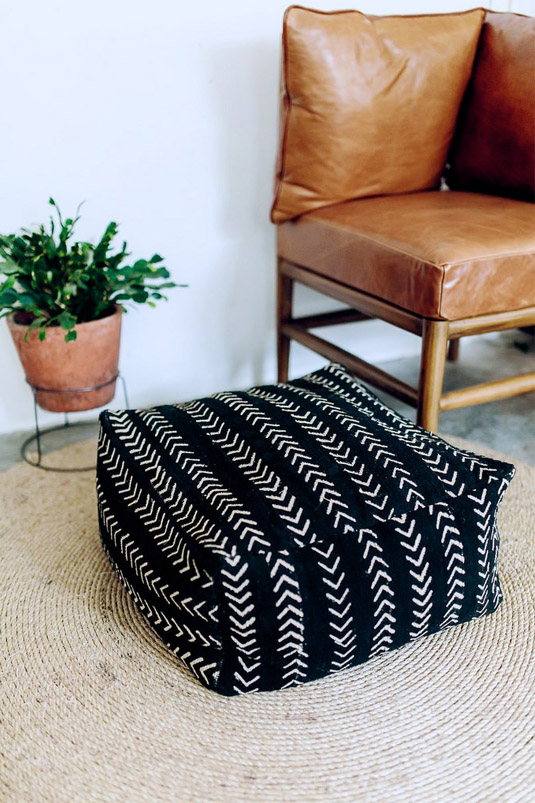 DIY Mud Cloth Floor Cushion