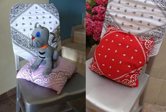 DIY Quick Bandana Pillow Cover