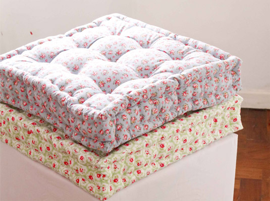 DIY Quilted Floor Cushion