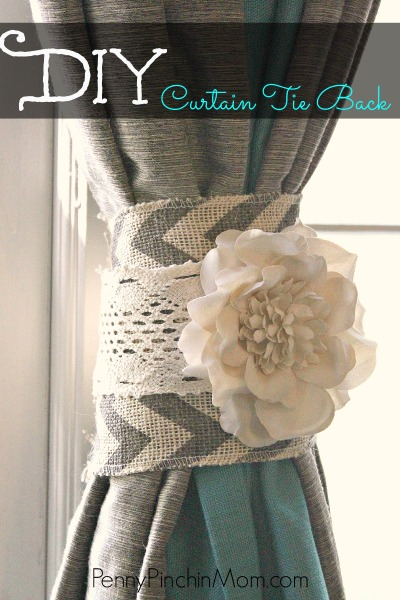 10 Super Diy Curtain Tie Backs Cool Diys