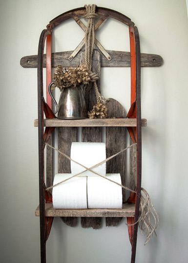 DIY Sleigh Shelf