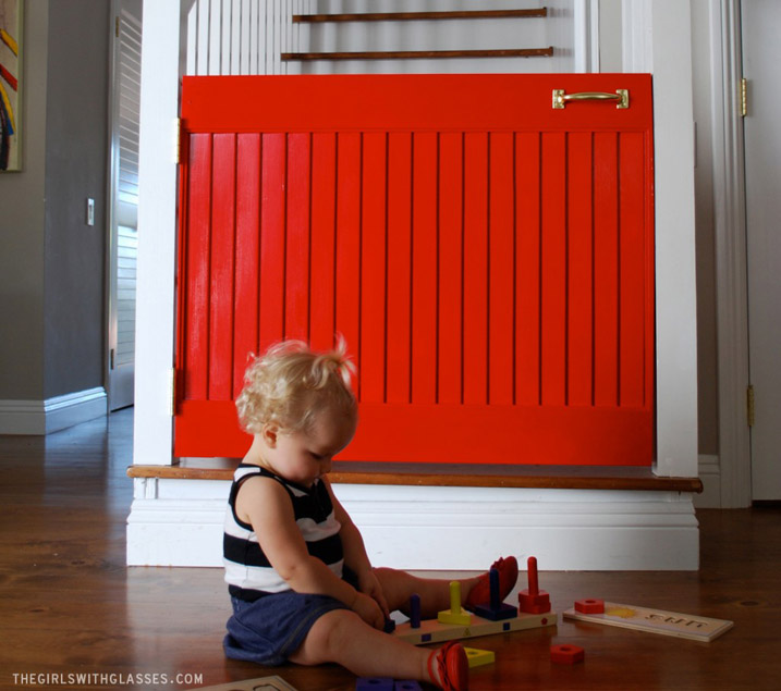 DIY The Little Red Door Baby Gate