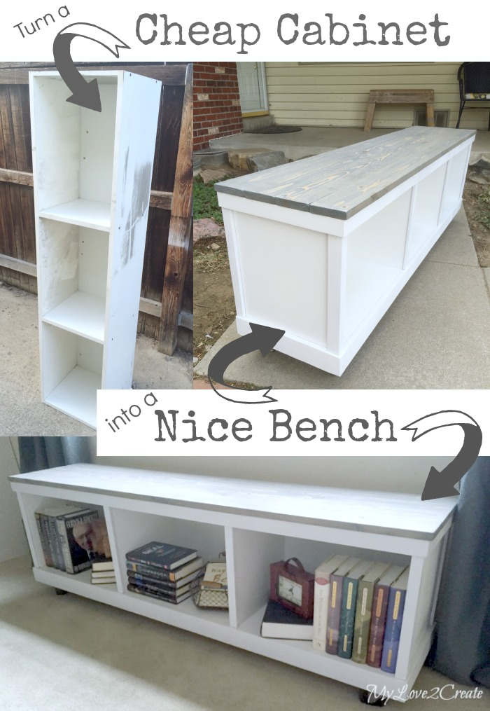 DIY Turn a Cheap Cabinet Into Nice Bench