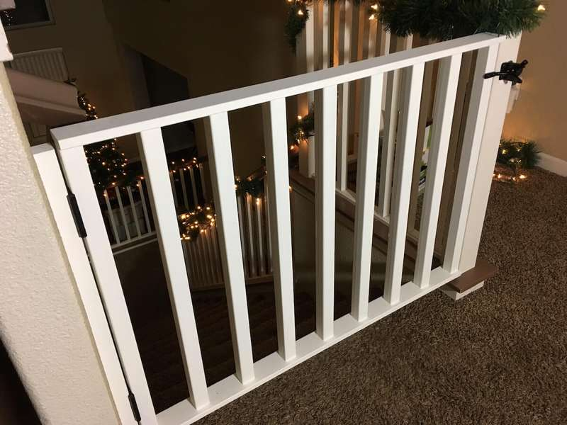 DIY White Baby Gate