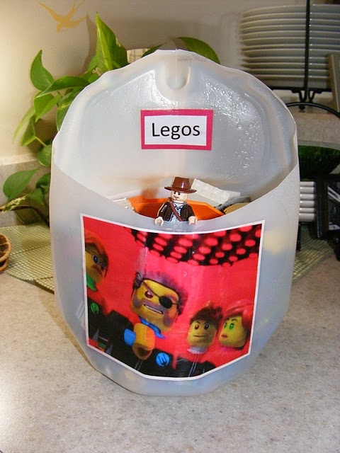 Milk Jug Lego Caddy