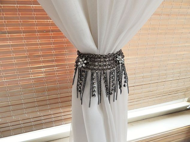 Necklace to Curtain Tie Back