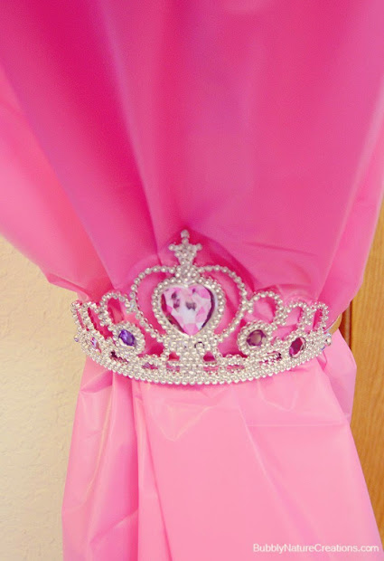 Use Princess Tiaras as Curtain Tie Back