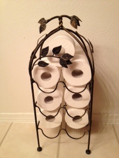 Wine Rack Toilet Paper Holder