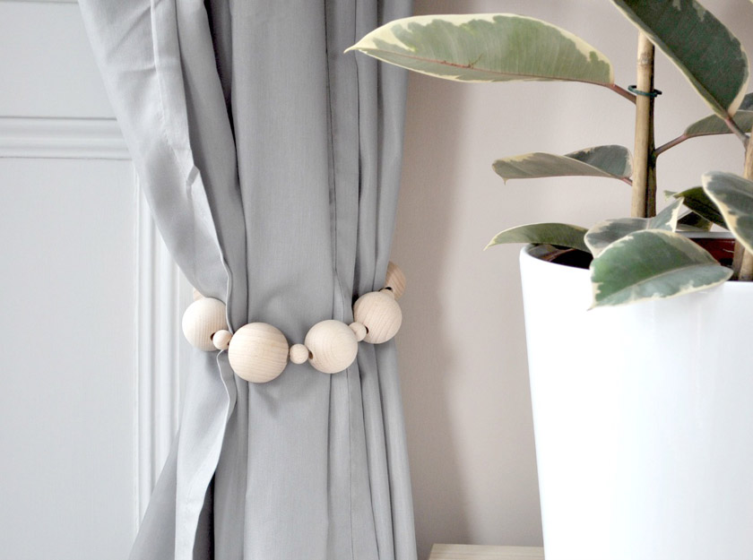Wood Curtain Tie Backs