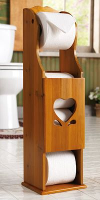 Wooden Heart Toilet Paper Storage