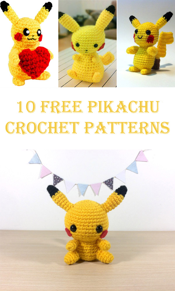 10 Free Pikachu Crochet Patterns - Cool DIYs