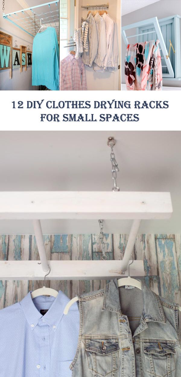 12 DIY Clothes Drying Racks For Small Spaces