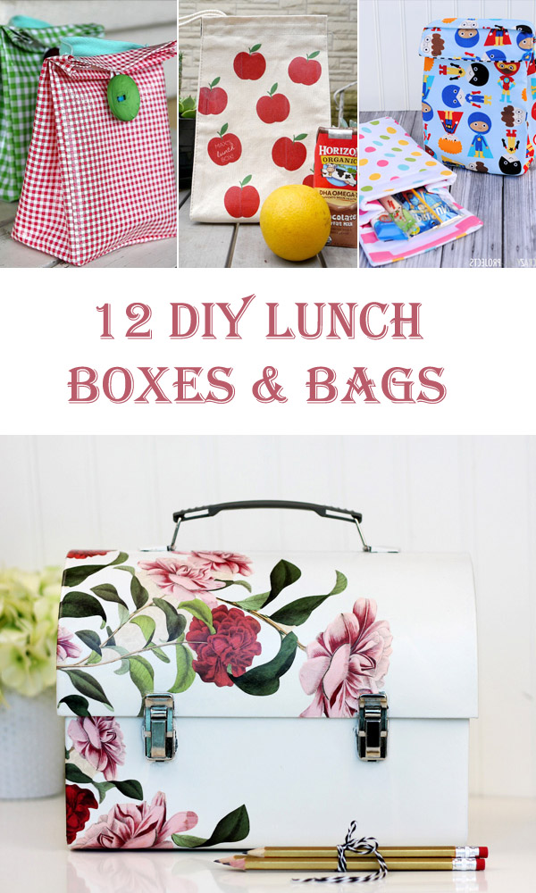 12 DIY Lunch Boxes and Bags