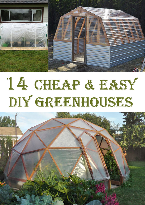14 Cheap & Easy DIY Greenhouse Projects - Cool DIYs
