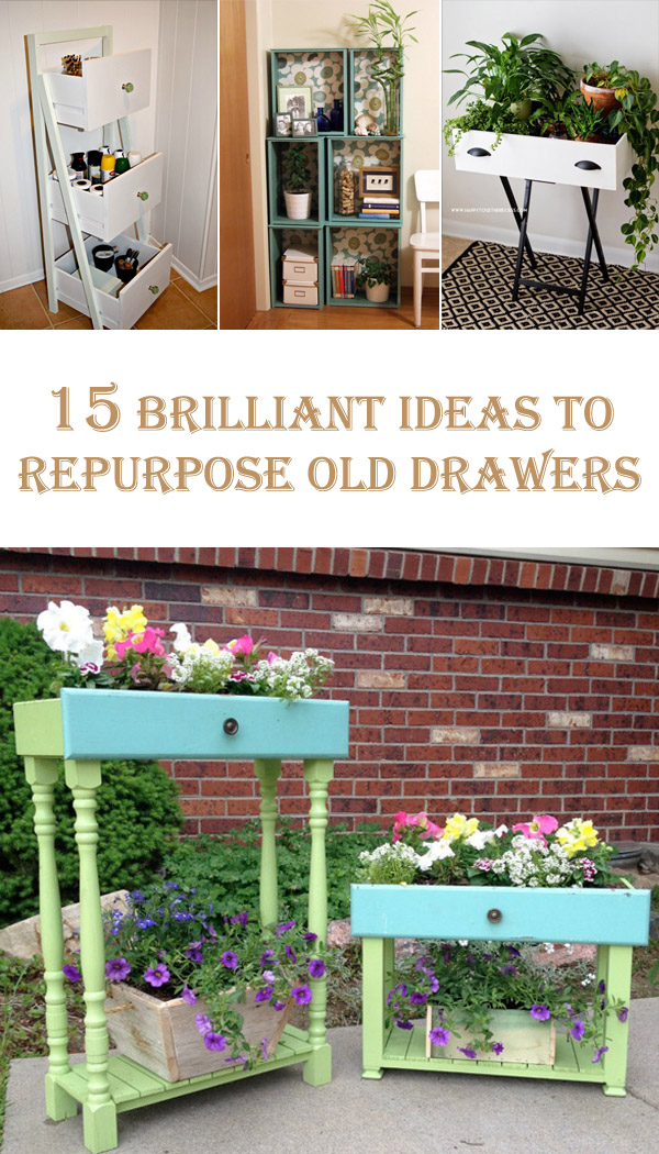 15 Brilliant Ideas To Repurpose Old Drawers