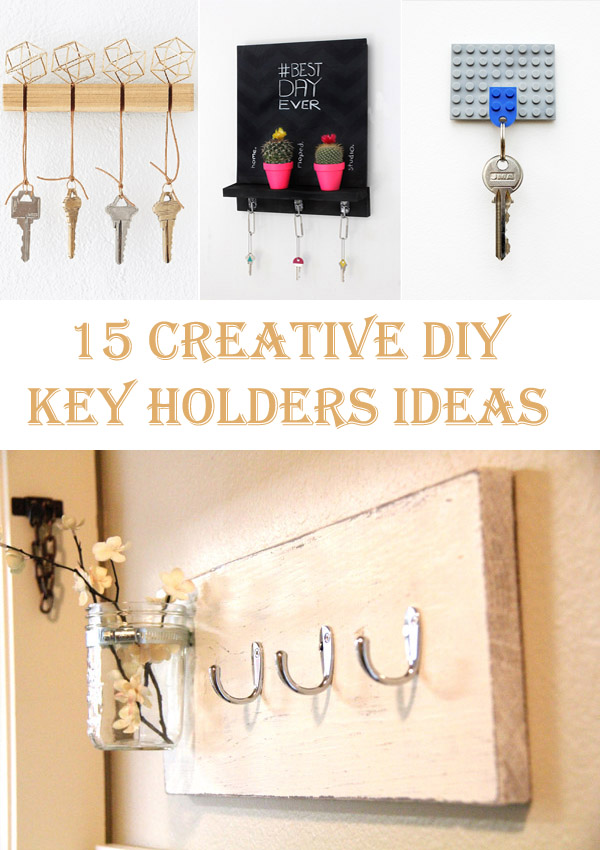 15 Creative DIY Key Holders Ideas