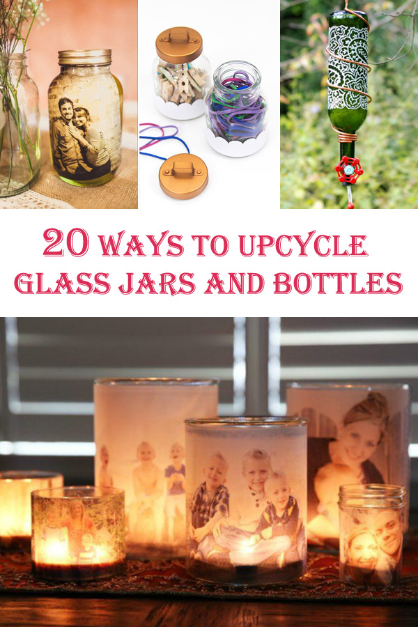 20 Ways to Upcycle Glass Jars and Bottles