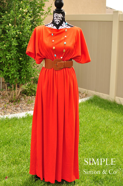 3-Seam Caftan Dress