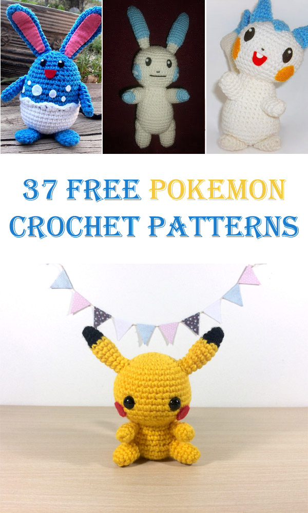 37 Free Pokemon Crochet Patterns