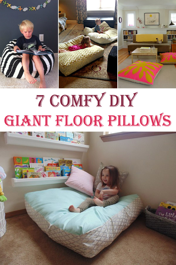 How To Make A Giant Floor Pillow : 7 Comfy DIY Giant Floor Pillows - Cool DIYs