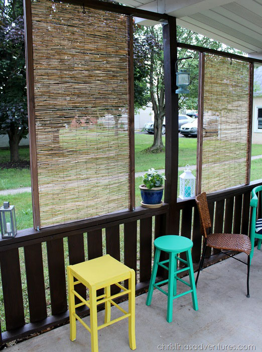 DIY Bamboo Privacy Screen