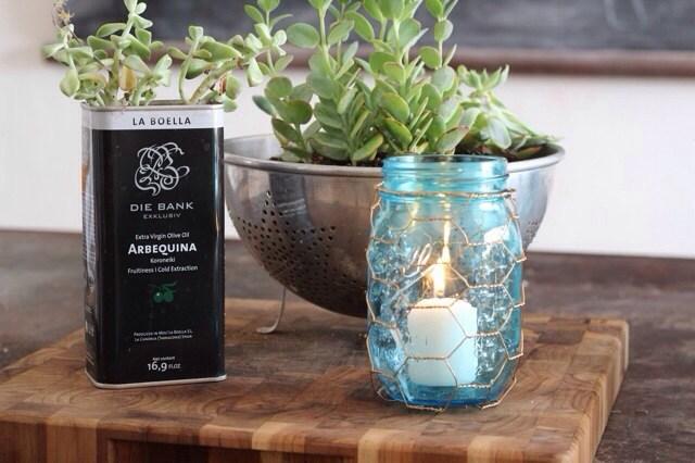 DIY Canning Jar and Chicken Wire Lanterns
