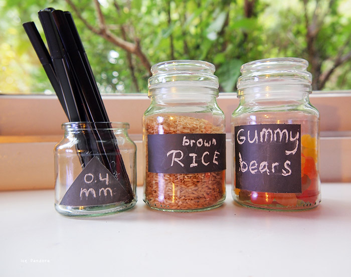 DIY Chalkboard Glass Jars