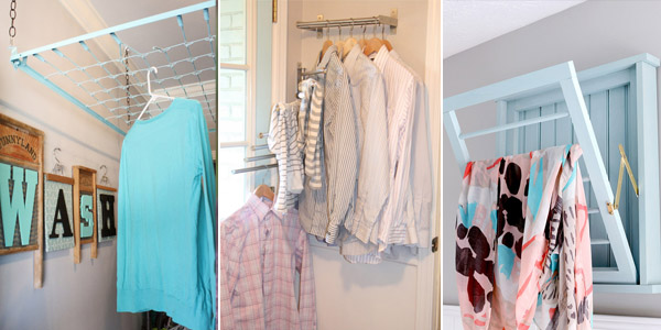 DIY Clothes Drying Racks For Small Spaces