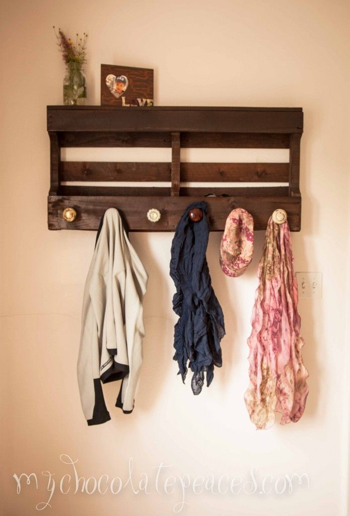 DIY Coat Rack with Shelves