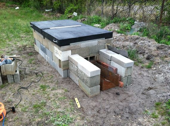 DIY Concrete Block Hog Smoker