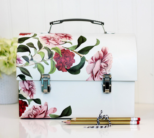 DIY Decoupage Lunch Box