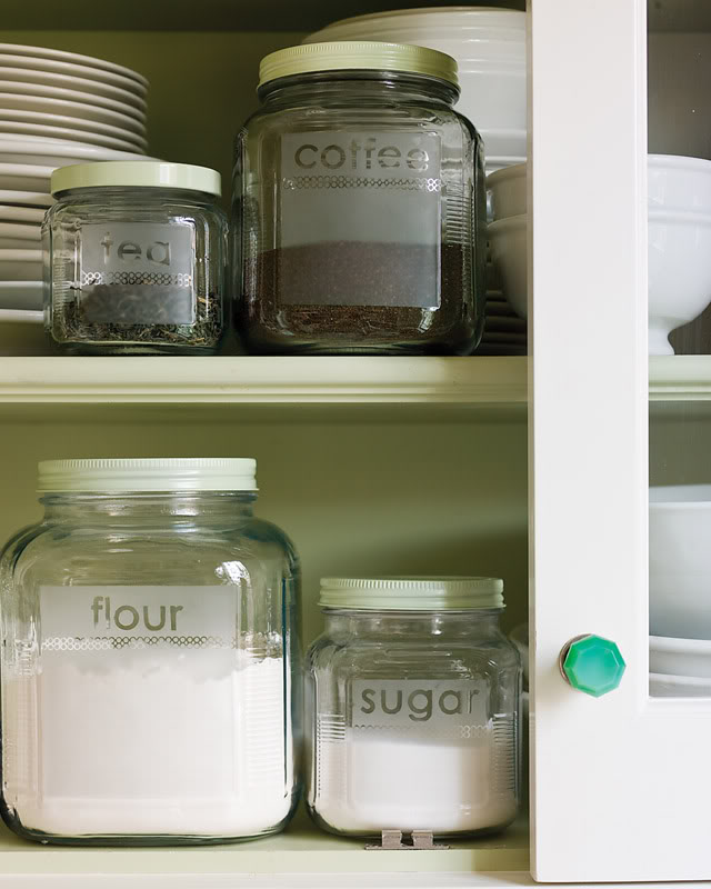 DIY Etched Glass Storage Jars