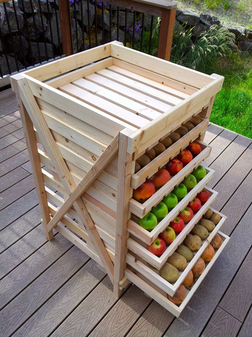 DIY Food Storage Shelf