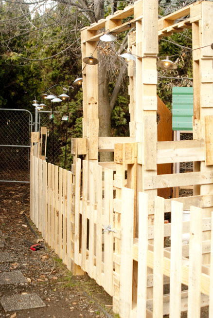 DIY Gated Garden Fence With Trellises